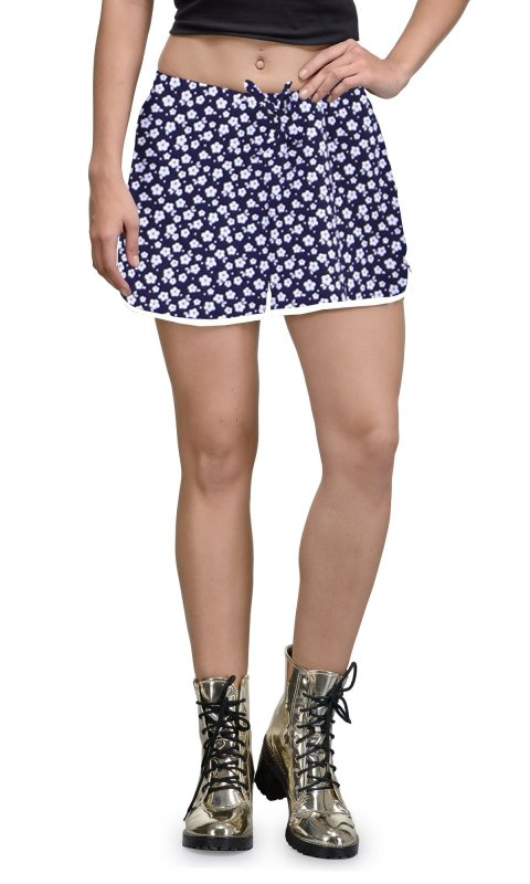 Buy Lilly Flower Print Cotton Shorts
