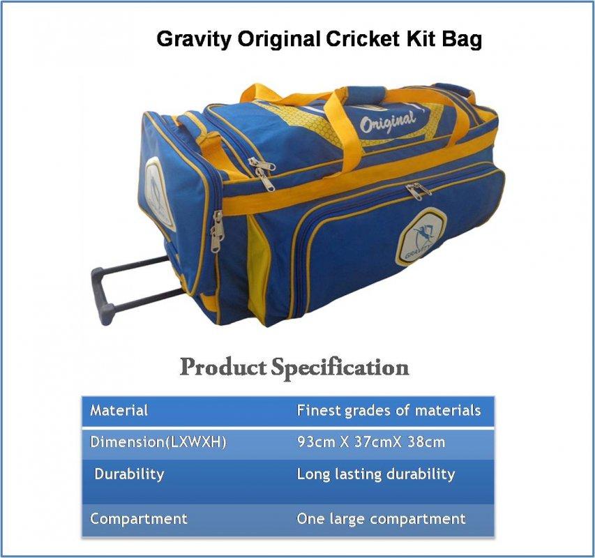 Buy Gravity Original Cricket Kit Bag