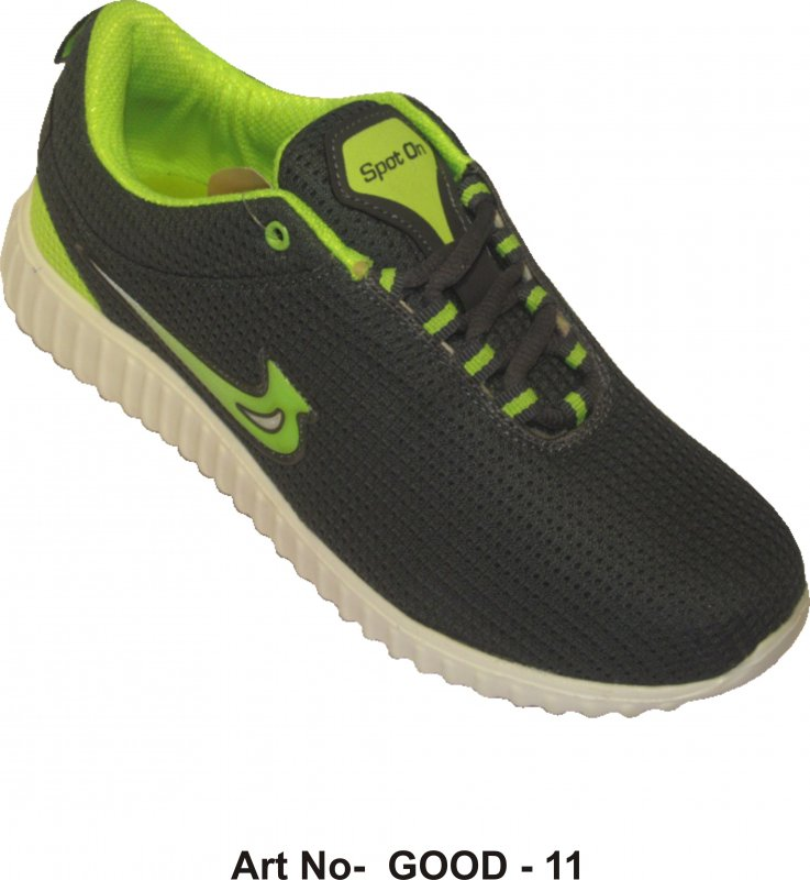 Buy Black - Sea Green Color Sports Shoes