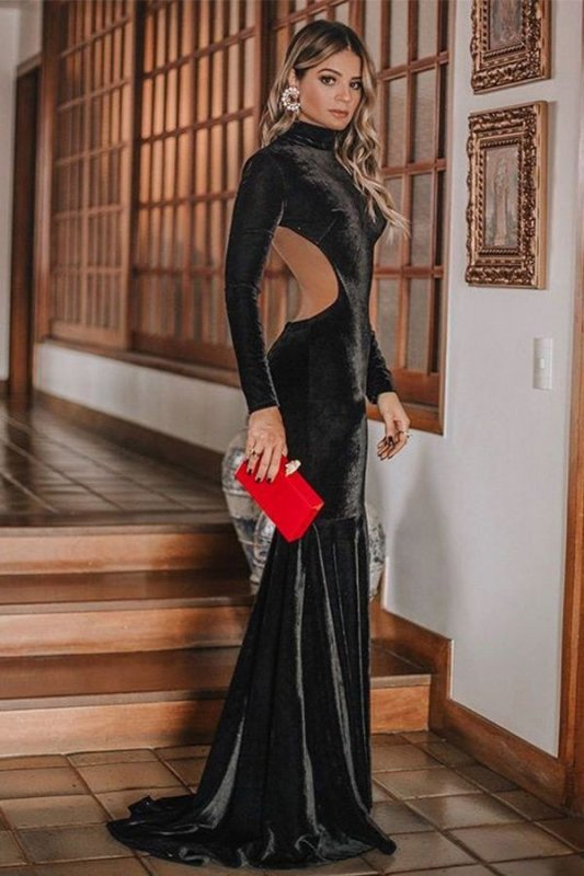 Buy Black Color Red Carpet Dress