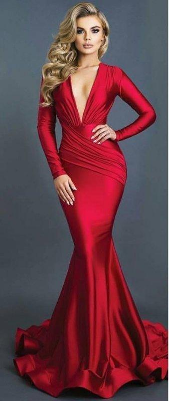 Buy Red color Red carpet Dress