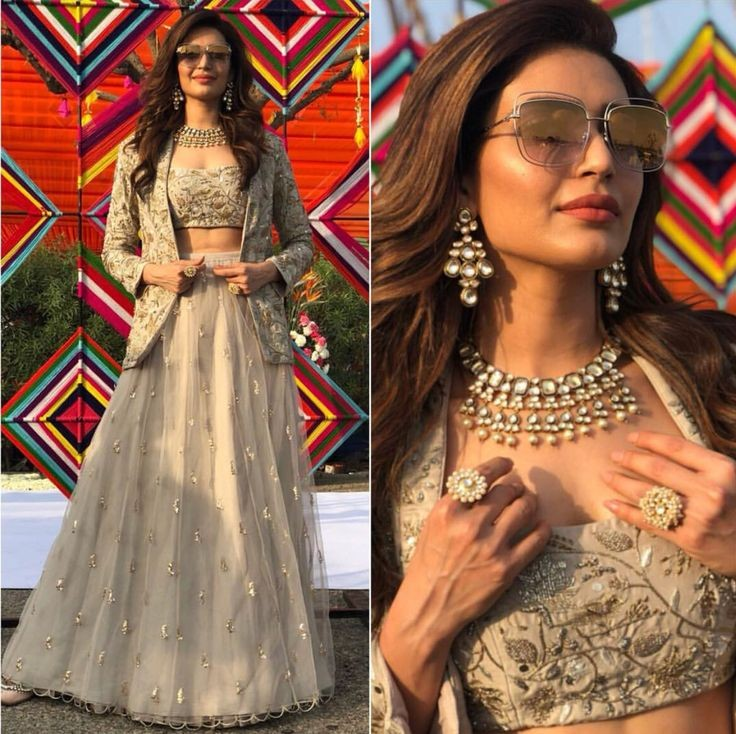 Buy Light grey embroidered indo-western Dress