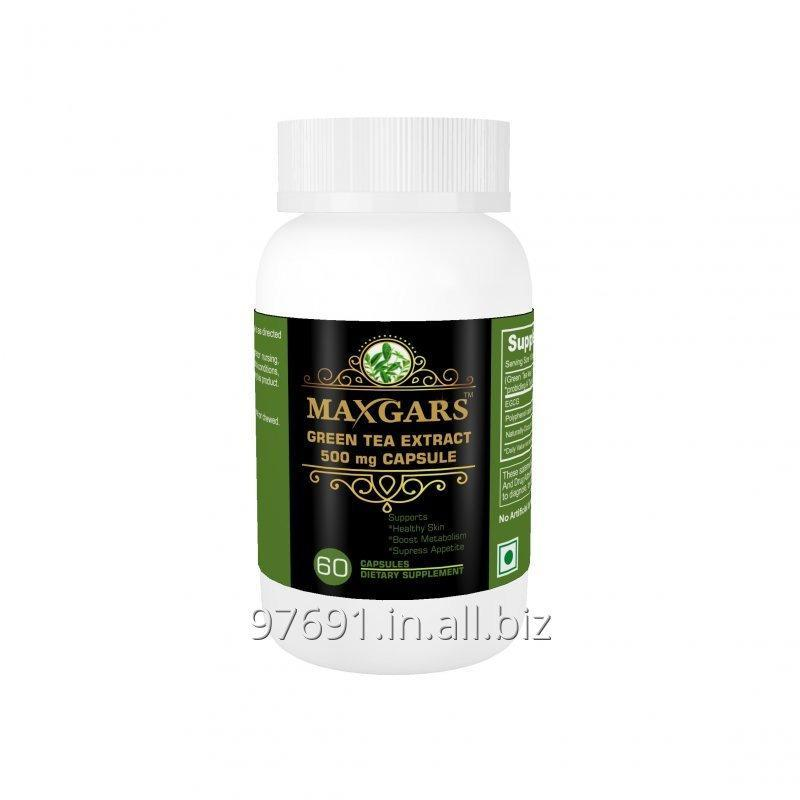 Buy Maxgars Green Tea Extract 500mg 60 Capsules