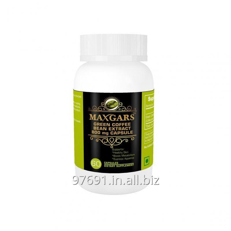 Buy Maxgars Green Coffee Beans Extract 800mg 60 Capsules