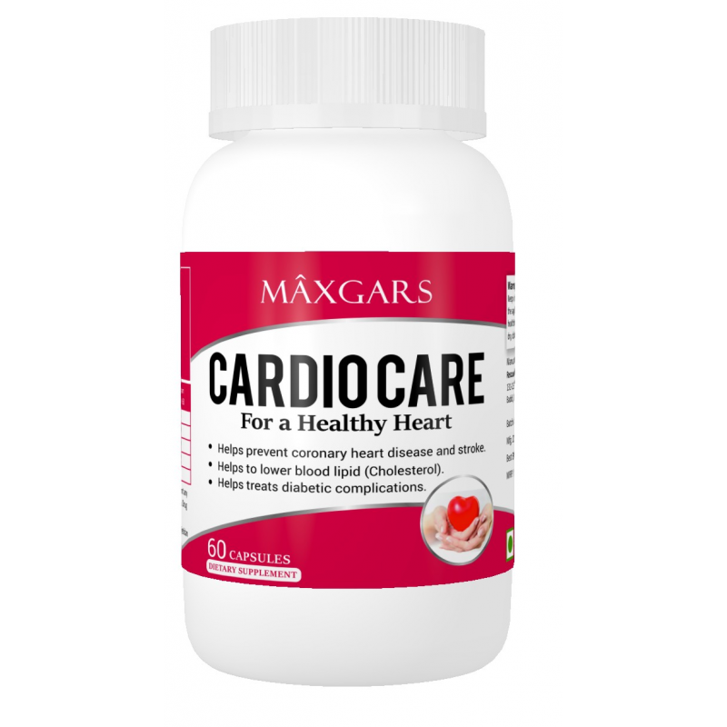 Buy Maxgars Cardio Care Healthy Heart Support 60 Veg Capsules