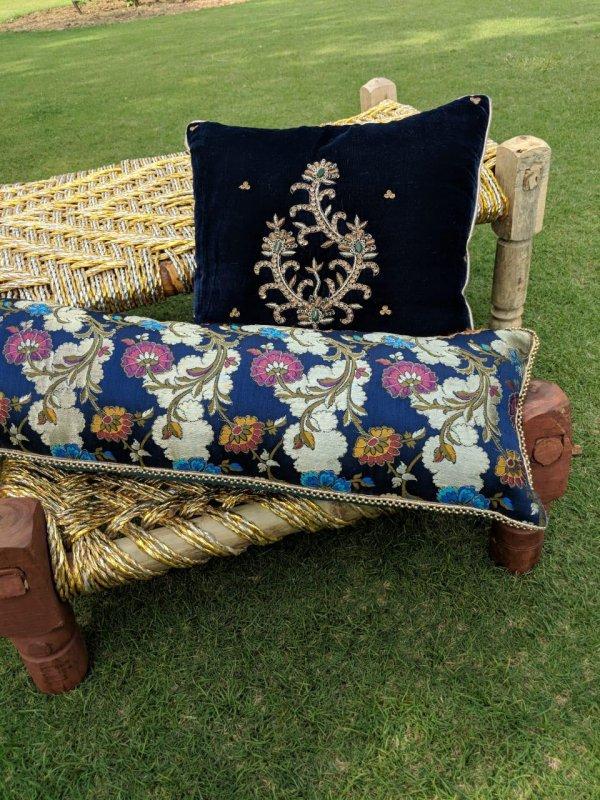 Buy Zardosi work Kheerkhaam & Velvet Cushions