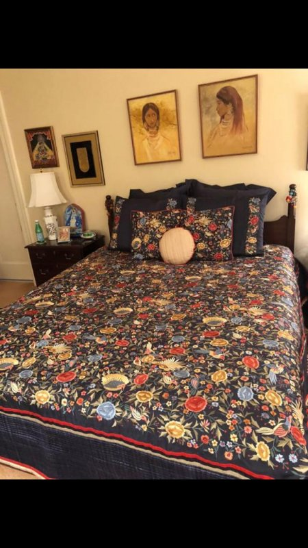 Buy Parsi Thread embroidery work bedcover and cushions