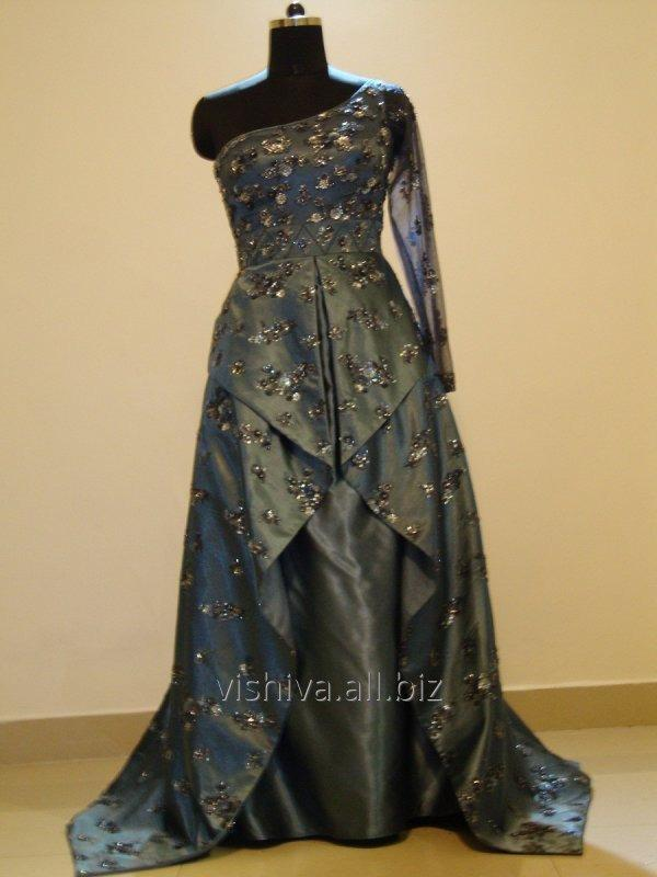 Buy Hand embroidery blue Dress