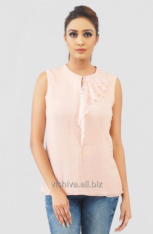 Buy Pink Cut Sleeves Top