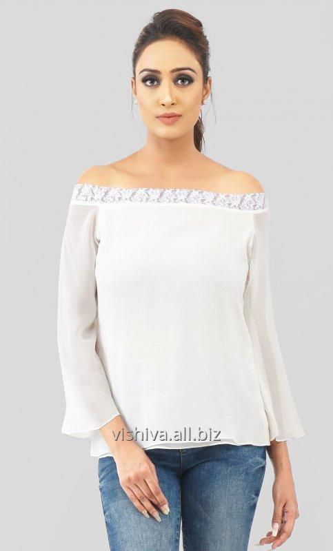 Buy White Bell Sleeves Top