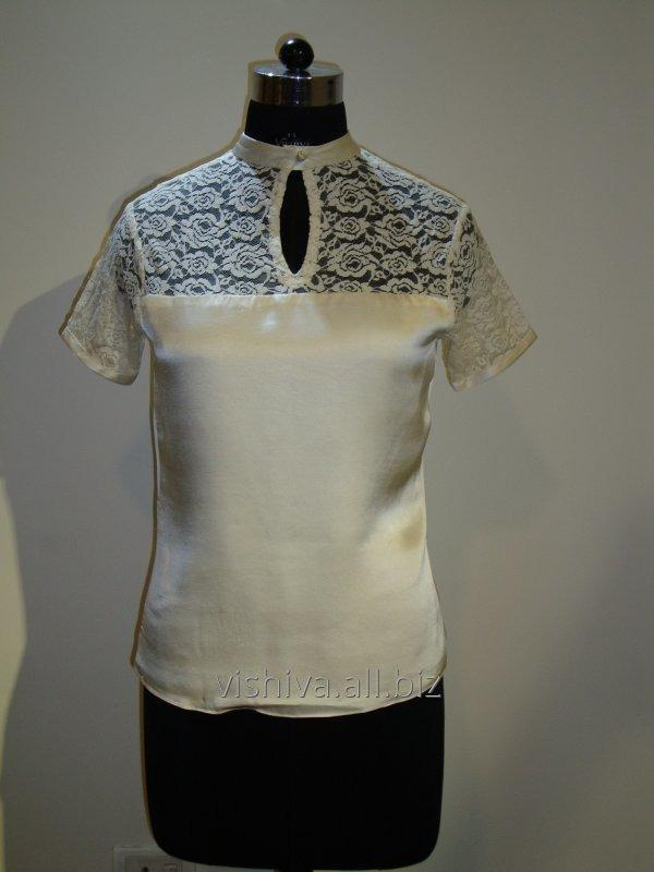 Buy White Net embroidery Top