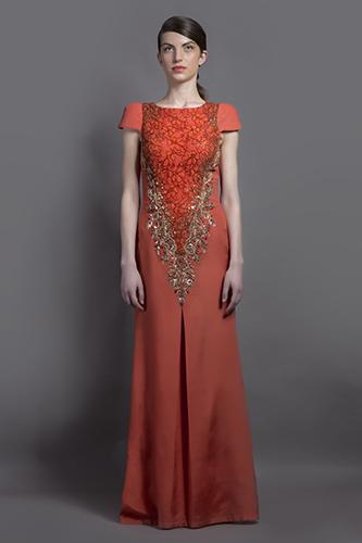 Buy Orange Stevena Gown