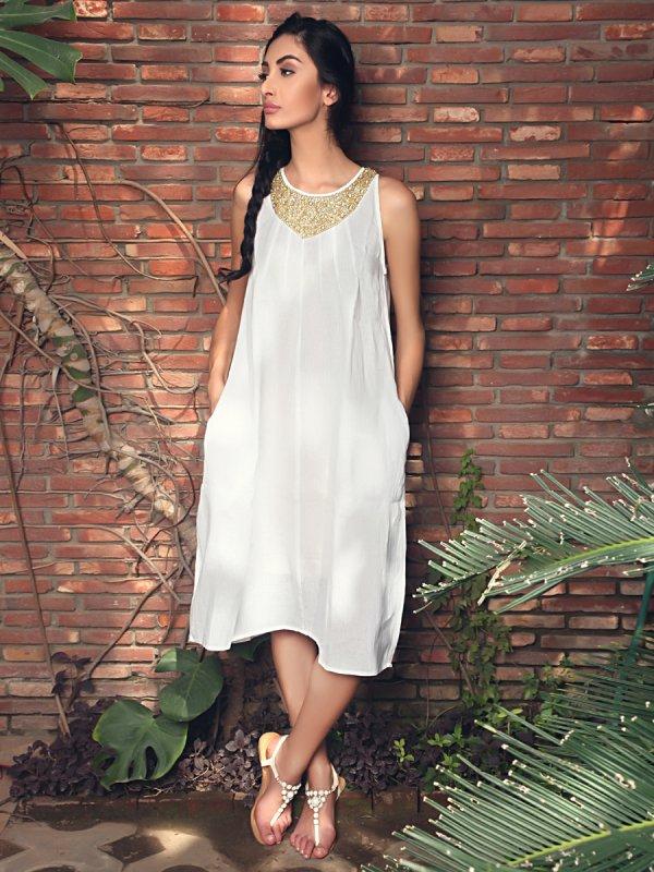 Купить Элиана белого белья миди платье