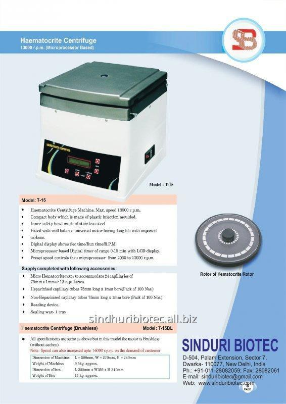 Buy Haematocrite centrifuge (Microprocessor Based)