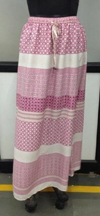 Buy Pink and white Long Skirt