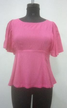 Buy Pink color waist fitting women top
