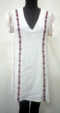 Side line design women white  Long Top