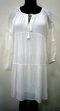 White color rayon crepe women top