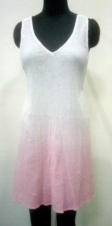 White and Pink color Sleevesless women dress