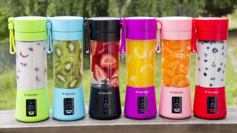 Buy Buy Portable Blender, Cordless Personal Blender Juicer, Mini Mixer, Waterproof Smoothie Blender With USB Rechargeable, BPA Free Tritan 300ml, Home, Office, Sports, Travel, Outdoors Blue