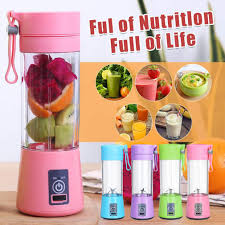 Buy Buy online, Portable Blender Personal Size Blender Juicer Cup for Juice Crushed-ice Smoothie Shake with Six Blades, 4000mAh USB Rechargeable, Blender for Outdoor Picnic Travel Gym