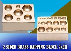 Buy Brass Dapping Block Flat