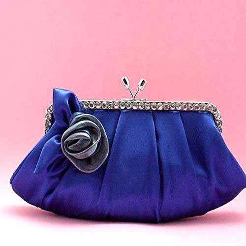 Buy Blue Bridal Purse
