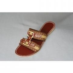 Ladies Leather Sole Flat Chappals