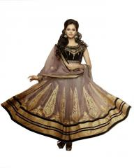 Heavy Fluffy Light Brown Salwar Kameez