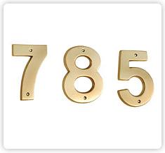 Brass Numeral & Alphabets
