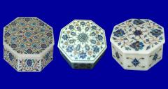 Marble boxes,soapstone carving & inlay