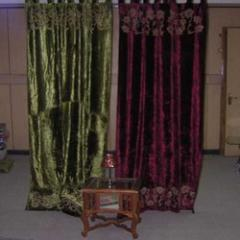 Curtain with Shannile Applique Work