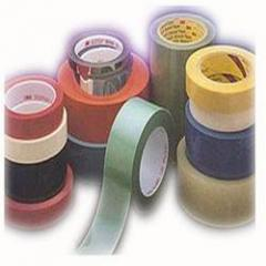 Coloured polyester tapes