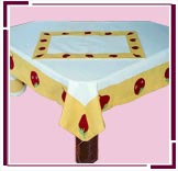 Strawberry Bordered Table Cover