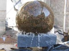 Granite water features, sphere water features