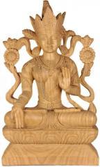 Wooden sculptures - Goddess white tara