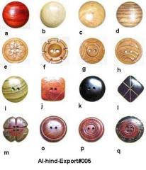 Bright horn bone buttons