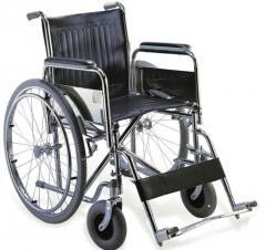 Chromed Steel Wheelchair