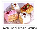 Fresh Butter Cream Pastries