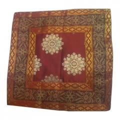 Embroidered Cotton Satin Cushion Covers