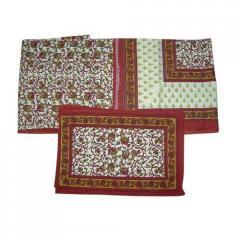 Maroon Printed Bedsheets