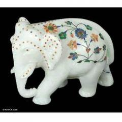 Elephant Marble Sculpture