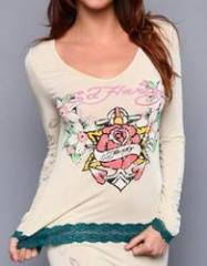 Anchor Rose Long Sleeve Lace Top