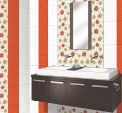 Facing ceramic bathroom tiles