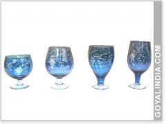 Glass Goblet Cut Works