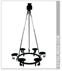 Six Light Hanging Piller Holder