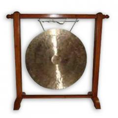 Tibetan Gong Bell Set With Wooden Stand