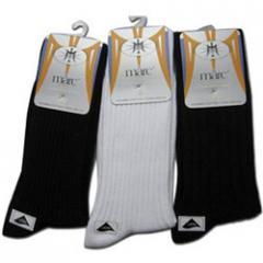Men's Cotton Spandex Rib D/C Socks