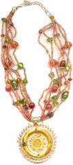 Pendant Multi Beaded Necklace