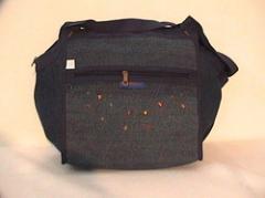 Denim shopping bags